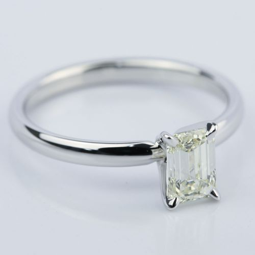 1 carat emerald cut engagement ring