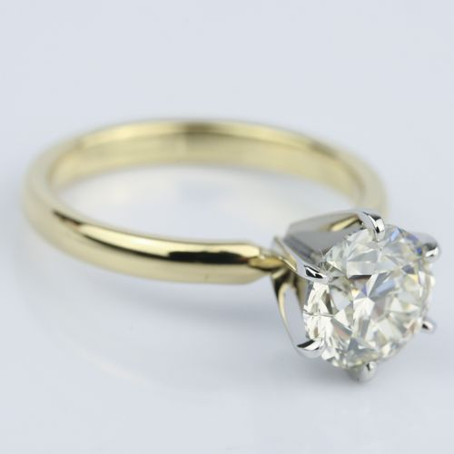 2 Carat Round Diamond Six Prong Solitaire Engagement Ring