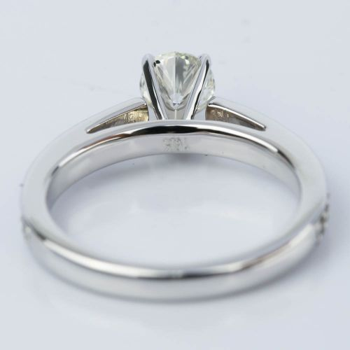 Cathedral Style Preset Diamond Engagement Ring 050 Ct