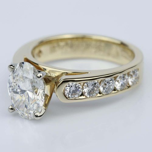 Channel Oval 2 13 Carat Diamond Engagement Ring