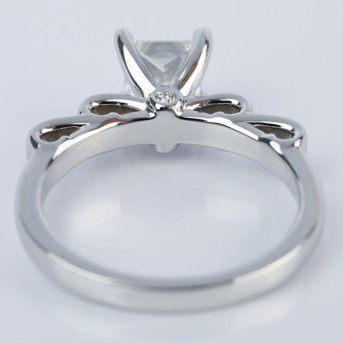 Cinderella Ribbon Engagement Ring With Princess Diamond