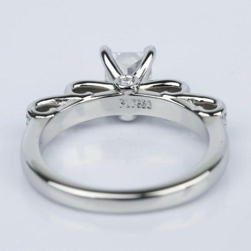 Cinderella Ribbon Princess Cut Diamond Engagement Ring 80 Ct