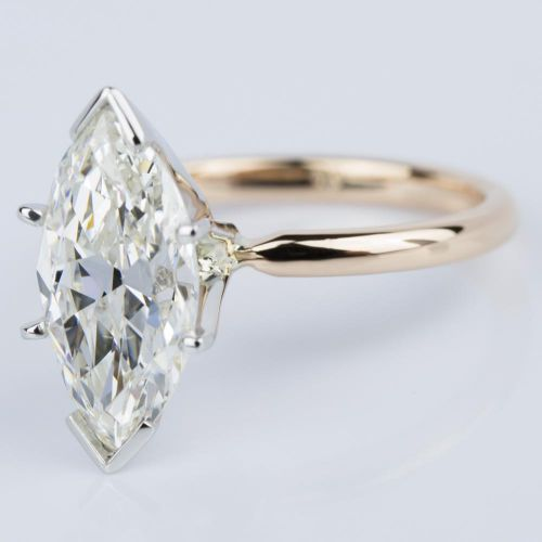 comfort fit marquise solitaire engagement ring in