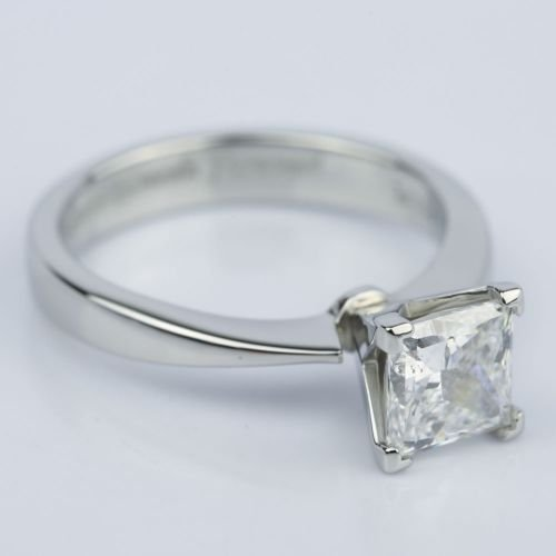 Flat Taper 1 50 Carat Princess Diamond Engagement Ring