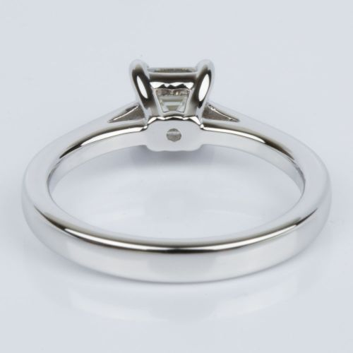 Petite Cathedral Asscher Engagement Ring in White Gold (0.70 ct.) | Image 04