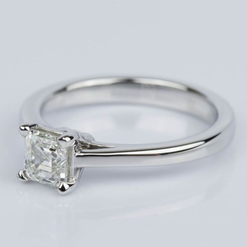 Petite Cathedral Asscher Engagement Ring in White Gold (0.70 ct.) | Image 02