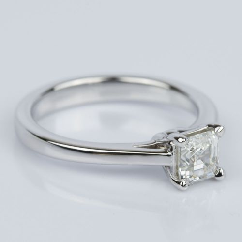 Petite Cathedral Asscher Engagement Ring in White Gold (0.70 ct.) | Image 03