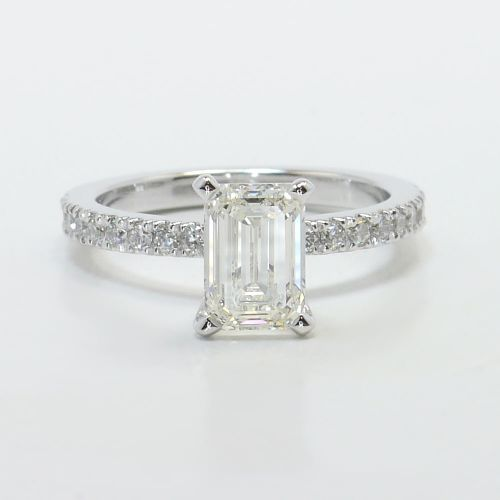 pave emerald engagement ring