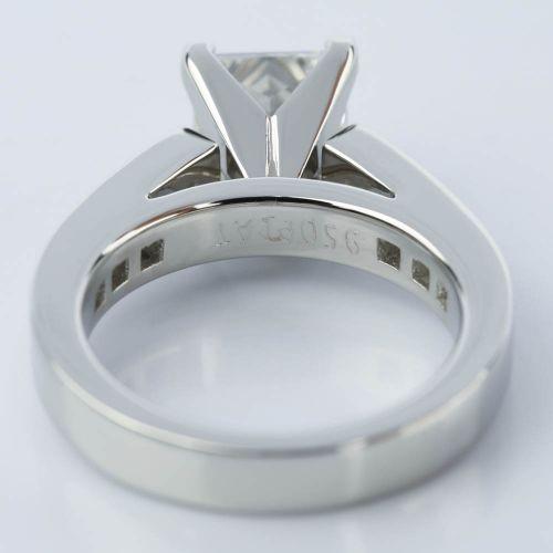 Princess Cut Diamond Channel Engagement Ring 1 50 Carat