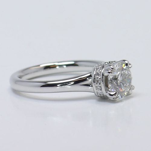 ribbon solitaire engagement ring