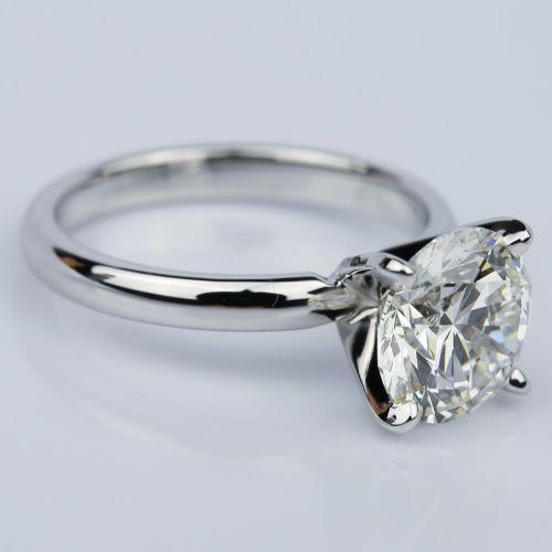 Round 2 59 Carat Solitaire Diamond Engagement Ring