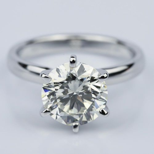Six-Prong 2.15 Carat Round Solitaire Engagement Ring  | Image 01
