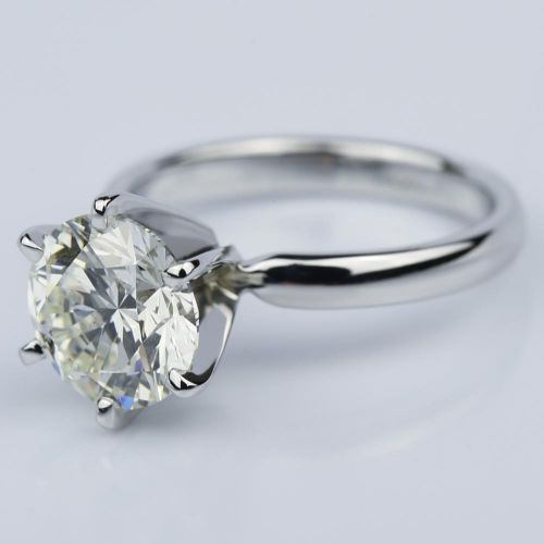 Six-Prong 2.15 Carat Round Solitaire Engagement Ring  | Image 02