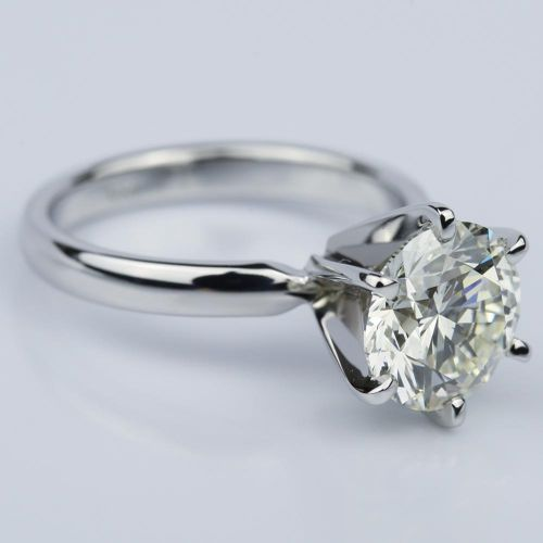 Six-Prong 2.15 Carat Round Solitaire Engagement Ring  | Image 03