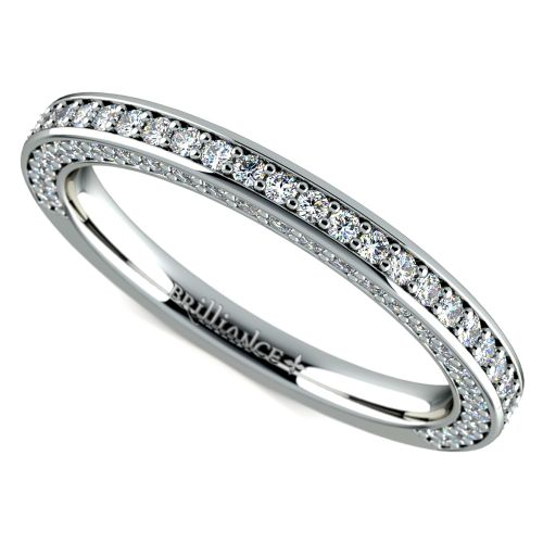 Three Sided Diamond Wedding Ring in Platinum (1/2 ctw) | Image 01
