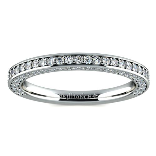 Three Sided Diamond Wedding Ring in Platinum (1/2 ctw) | Image 02