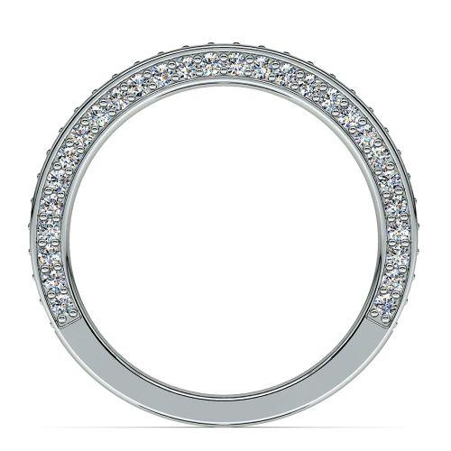Three Sided Diamond Wedding Ring in Platinum (1/2 ctw) | Image 03
