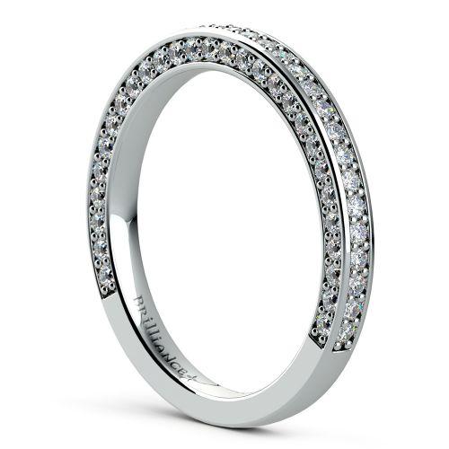 Three Sided Diamond Wedding Ring in Platinum (1/2 ctw) | Image 04