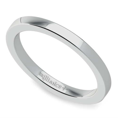Flat Wedding Ring in Palladium (2mm) | Image 01