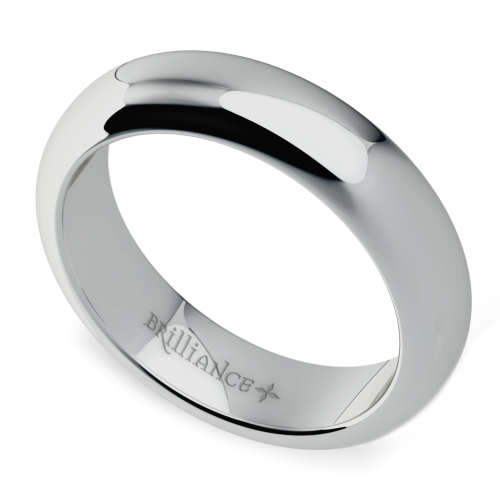 Comfort Fit Men 39 S Wedding Ring In White Gold 5mm