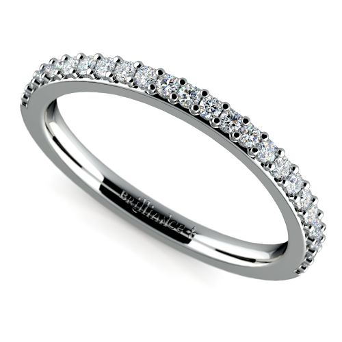rings diamond curved diamond wedding ring in white gold