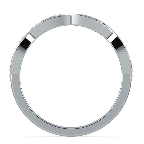 infinity twist wedding ring in platinum