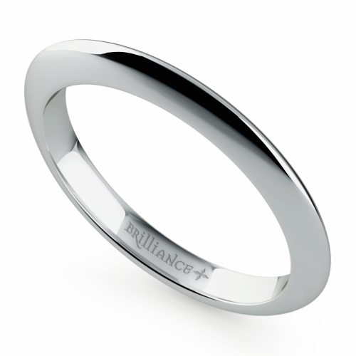 Knife Edge Wedding Ring in White Gold | Image 01