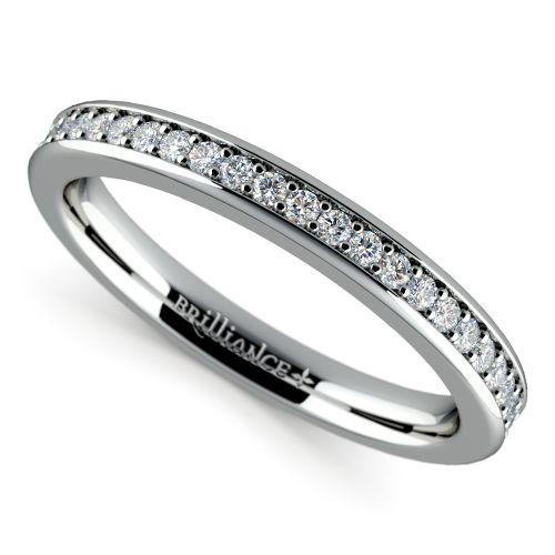 Matching halo diamond wedding ring in white gold for Matching white gold wedding rings