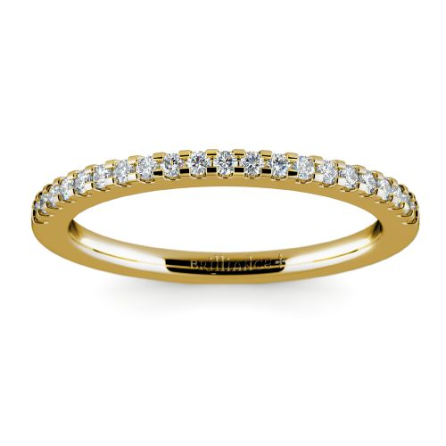 Matching Halo Pave Diamond Wedding Ring in Yellow Gold | Image 02