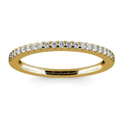 Matching Halo Pave Diamond Wedding Ring in Yellow Gold | Image 02
