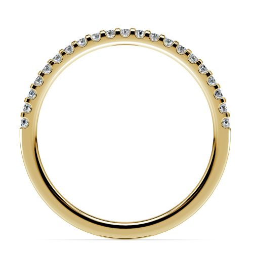 Matching Halo Pave Diamond Wedding Ring in Yellow Gold | Image 03