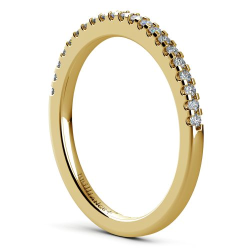 Matching Halo Pave Diamond Wedding Ring in Yellow Gold | Image 04