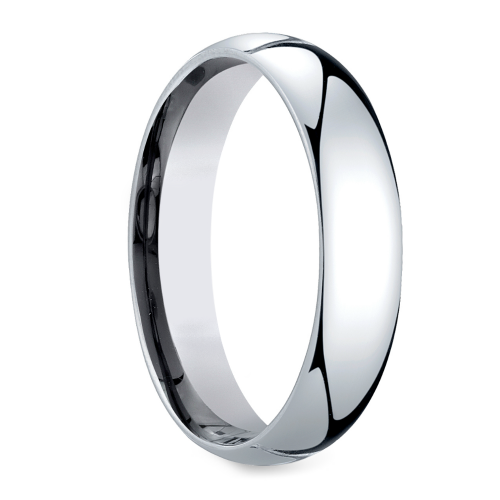 mid weight s wedding ring in platinum 5mm