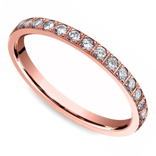 Pave Diamond Eternity Ring in Rose Gold (3/4 ctw) | Image 01