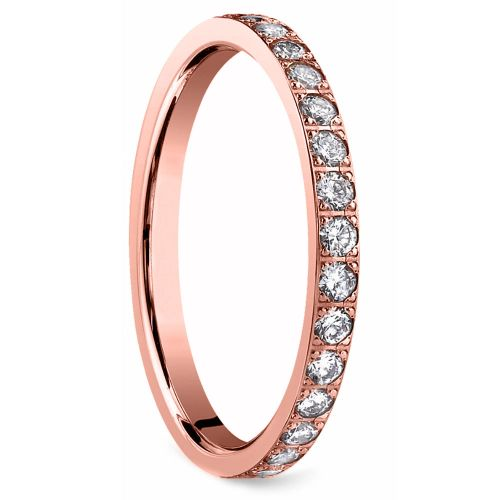 Pave Diamond Eternity Ring in Rose Gold (3/4 ctw) | Image 02
