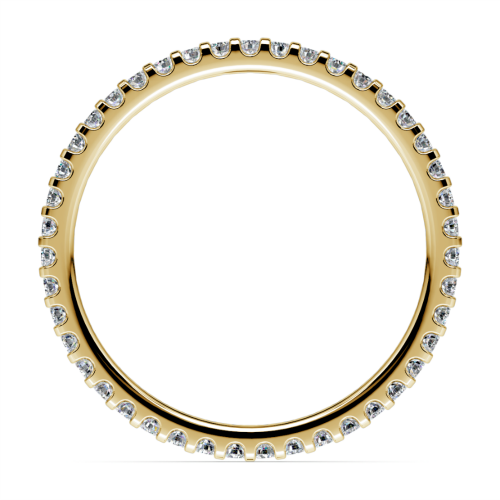 Scallop Diamond Eternity Ring in Yellow Gold | Image 03
