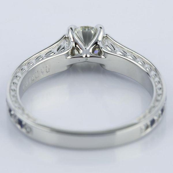 antique sapphire gemstone engagement ring 0 66 ct