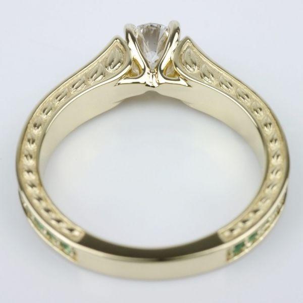 antique emerald gemstone ring