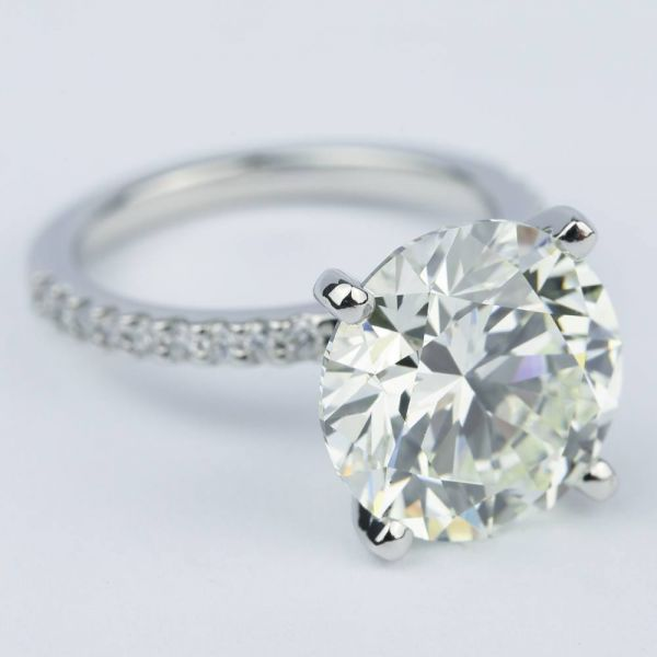 6 carat cut with engagement ring