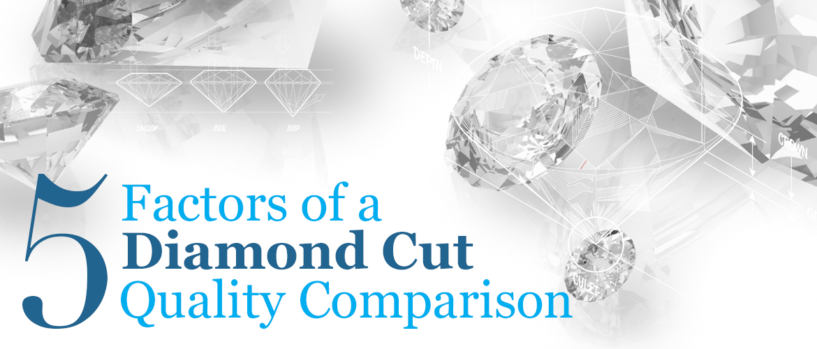 Top five factors of a diamond cut quality comparision